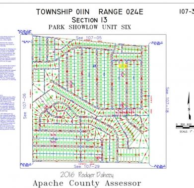 Apache County Plat Map