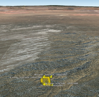 Google Earth looking South