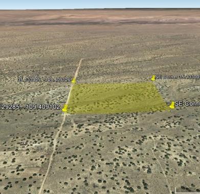 Google Earth looking North