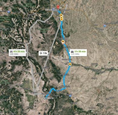 Google Maps - Directions to Denver