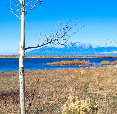 Looking North to Mt Blanca at Sanchez Reservoir