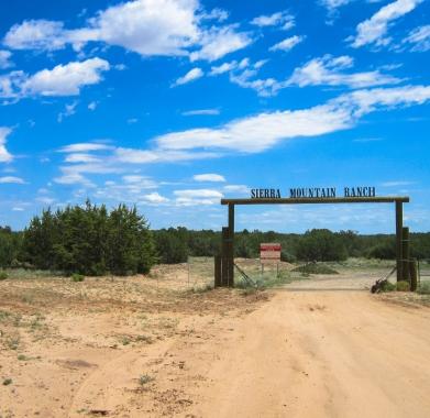 Sierra Mtn road entrance