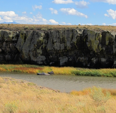 accross bridge cliffs nearby